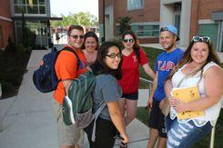 York College students near Willman Business Center