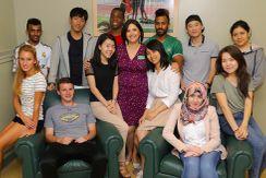 International students at York College of Pennsylvania