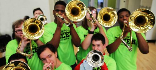 York College pep band