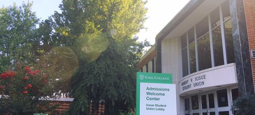 York College of Pennsylvania admissions welcome center for campus visitors